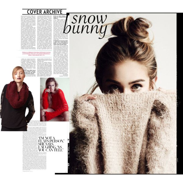 Snuggle times by bewoolen on Polyvore featuring fashionista and snowbunny