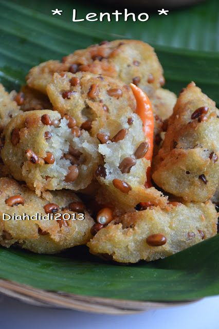 Diah Didi's Kitchen: Lentho..Gorengan Unik dari Singkong dan Kacang Tholo..enakk..^_^