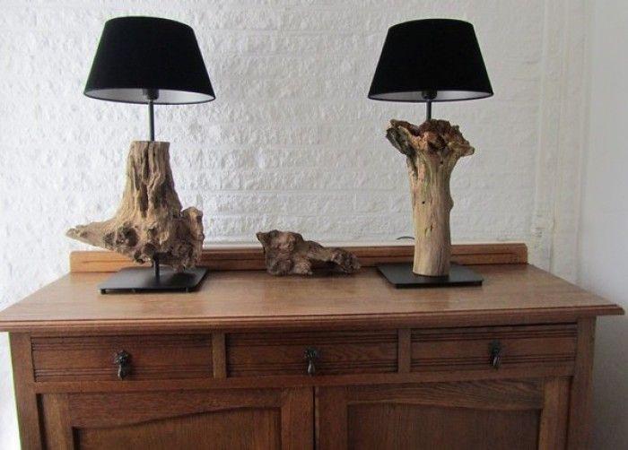 De handgemaakte lamp van Inspired By Wood is een echte eyecatcher in ieder interieur!