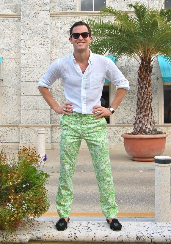vintage Lilly Pulitzer pants for men.  Don't know if my husband would ever wear such a thing, but if I find them, he better get used to the idea.
