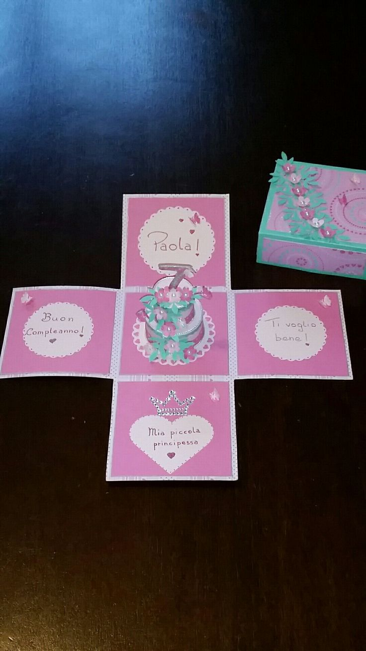 Explosion box  Buon Compleanno  Principessa.