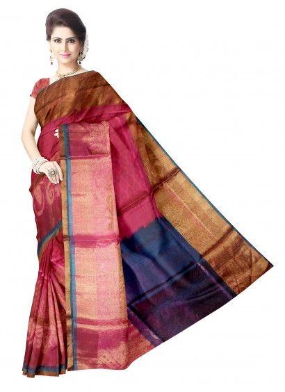 Pink Uppada Pattu Saree & Blouse Product code: SLSA90S004 Retail price: 16,463/- Sale price : 15,679/-