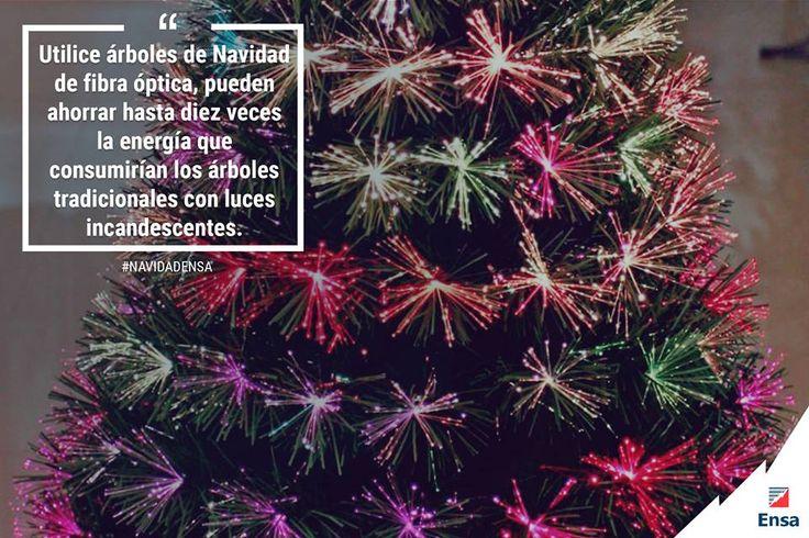 Los árboles de fibra óptica (árboles sintéticos preiluminados con luces LED incrustadas en sus ramas) son una opción ecológica #NavidadEnsa #ConsejosEnsa