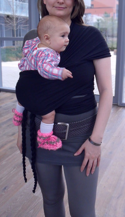 Babywearing, Twist : Little D's Stretchy Wrap Baby Carriers