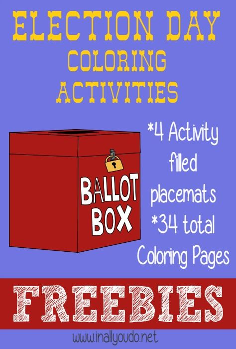 FREE Election Day Coloring Activities - In All You Do