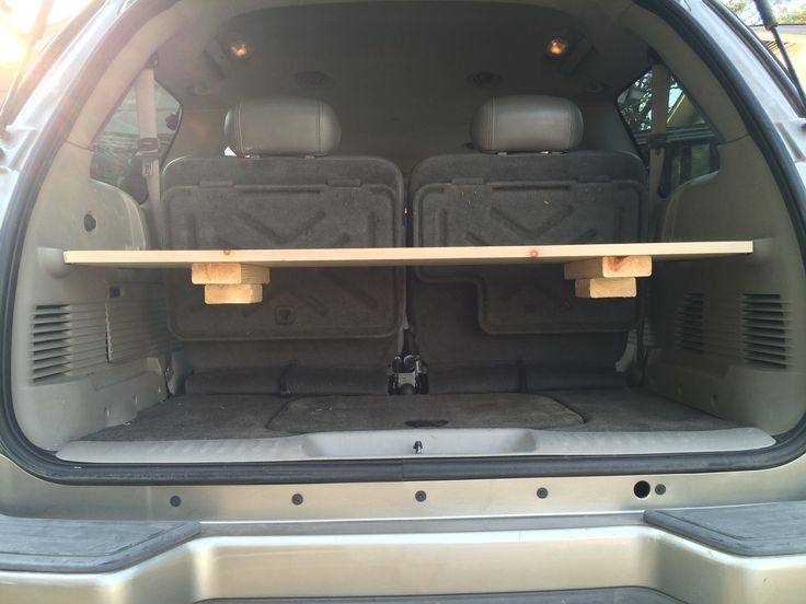 How to build a #DIY removable #cargoshelf for $14 for the Chevy #Trailblazer EXT