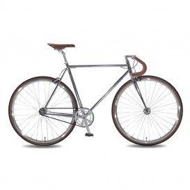 Bicicletta Uomo Premium Scatto Fisso - Cromo