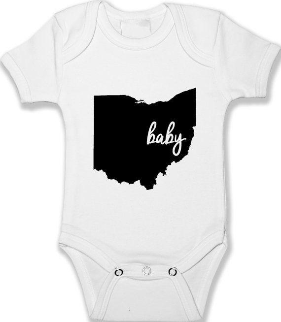Baby Bodysuit Ohio State Baby Custom Onesie by babyprintCA on Etsy