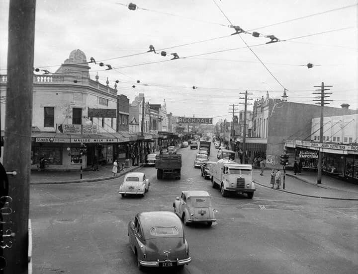 Princes Highway in Rockdale in 1955.