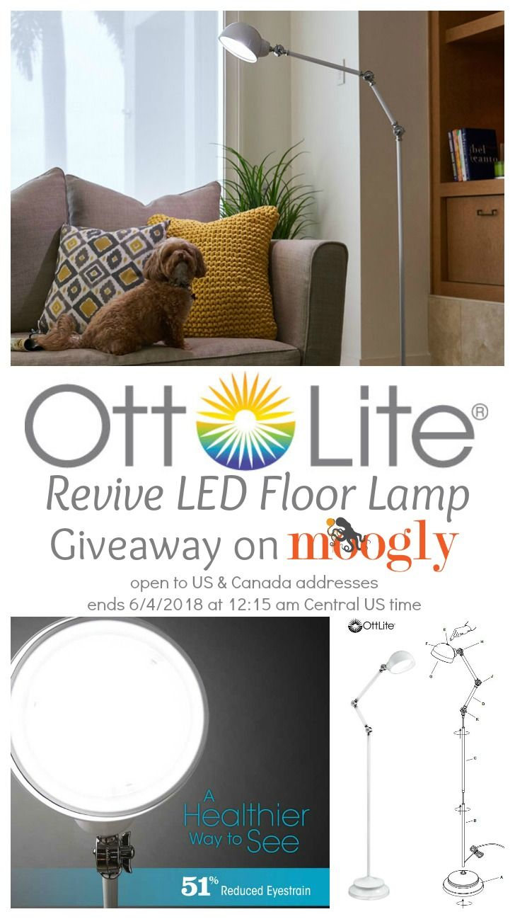 Ottlite Revive Led Floor Lamp Giveaway On Moogly With Images Led Floor Lamp Crochet Home Decor Floor Lamp