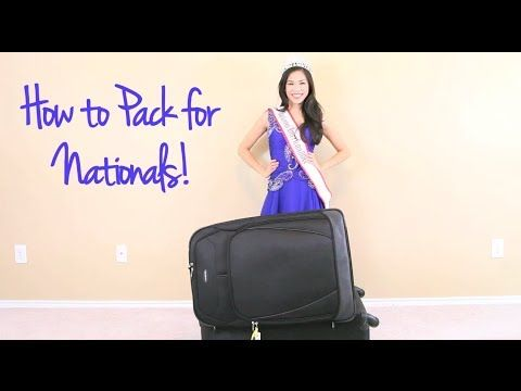 How to pack for National American Miss Nationals! #pageant