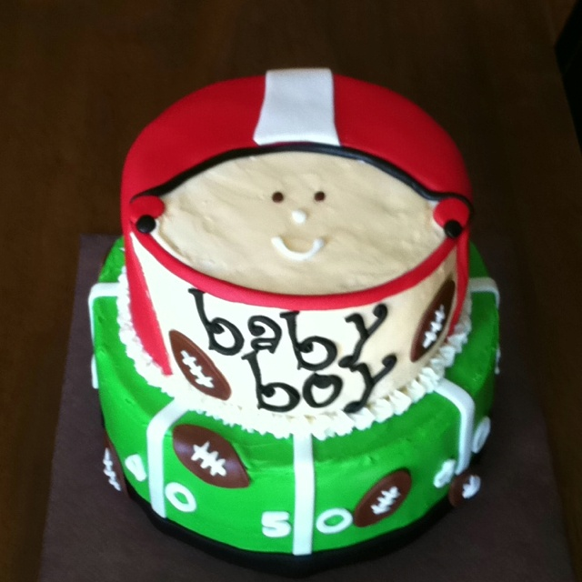 Ladybug Baby Shower Cake Photo