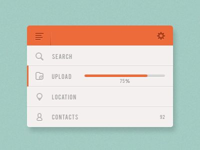 Interesting menu interface, make me feels like I want to do it in HTML.