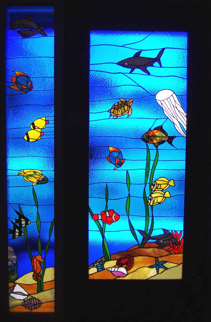 Beach theme decoration stained glass window panels arts crafts - We Made The Stained Glass And The Mahogany Door From Designe Art Glass Daytona Bch