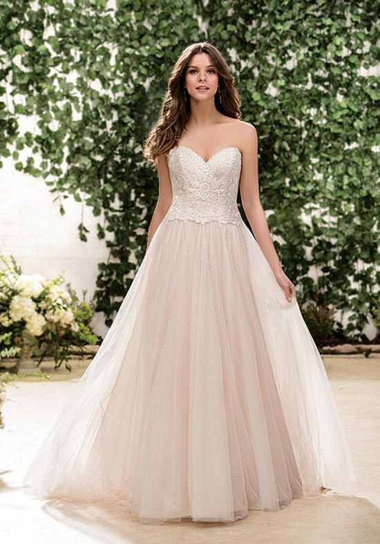 A-line wedding dress with sweetheart neckline and embroidered lace bodice I Style: F181056 I by Jasmine Collection I https://www.theknot.com/fashion/f181056-jasmine-collection-wedding-dress?utm_source=pinterest.com&utm_medium=social&utm_content=july2016&utm_campaign=beauty-fashion&utm_simplereach=?sr_share=pinterest