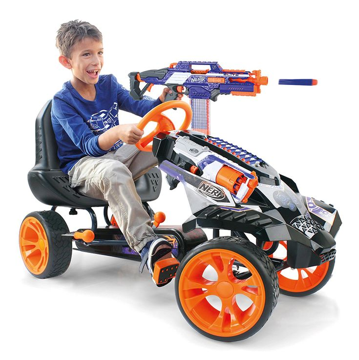 The NERF Battle Racer by Hauck Toys is a Pedal-Powered Go-Kart That Stores NERF Weaponry