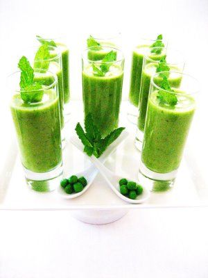 Garden Party Ideas -- Pea and Mint Soup--Amuse Bouche