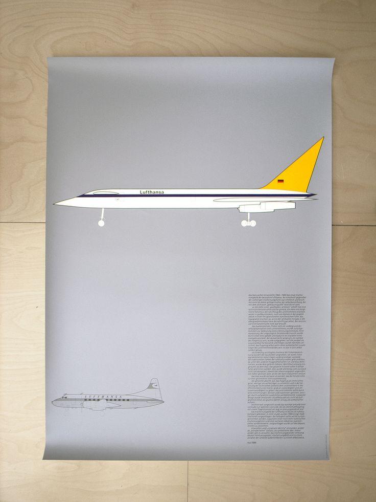 Lufthansa Poster designed by Otl Aicher