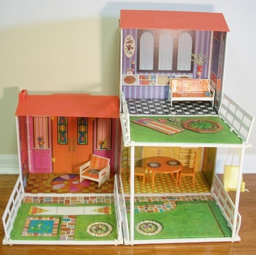 Dreams House Furniture: Vintage Mattel 1970 Barbie House Retro Mod Style Two Story