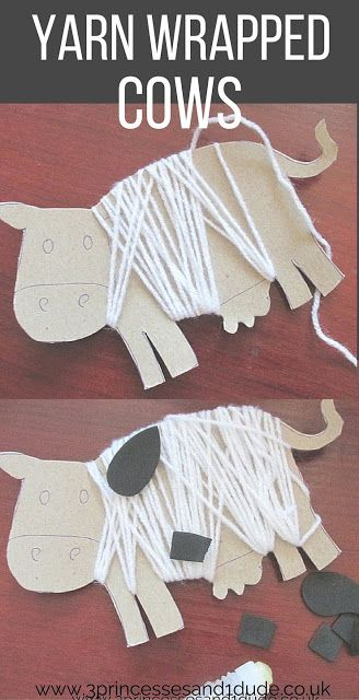 Activity Time. Yarn Wrapped Cows