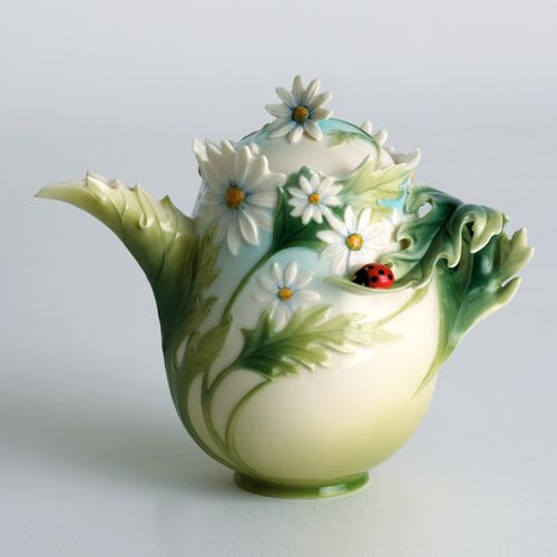 Franz Porcelain Ladybug Teapot Lucky ladybug!  www.missdinkles.com