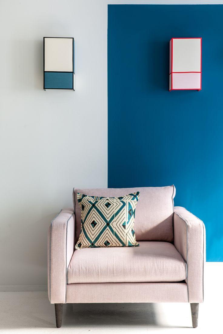 """Appliques """"Radieuse"""" grand modèle - coloris bleu et rose, par Maison Sarah Lavoine"""
