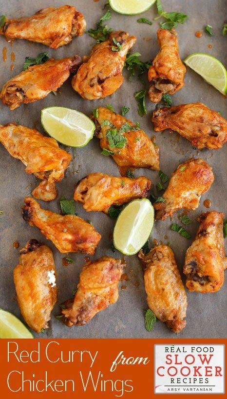 Slow cooker Recipes | Red curry wings in the slow cooker