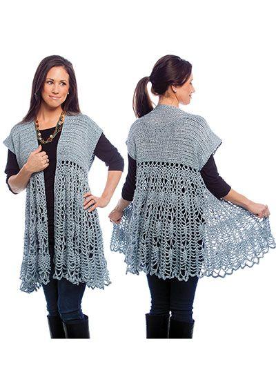 Pineapple Swing Cardigan crochet pattern download from AnniesCraftStore.com. Order here: https://www.anniescatalog.com/detail.html?prod_id=123301&cat_id=24