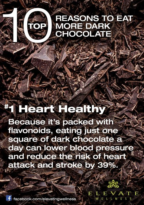 dark chocolate a day