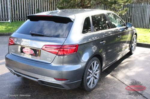 Audi A3 Sportback - 20% Window Tint - https://www.motomotion.net/audi-a3-sportback-20-window-tint/ #GtechniqUK #Detailing #Valeting #Tinting #Motomotioncornwall