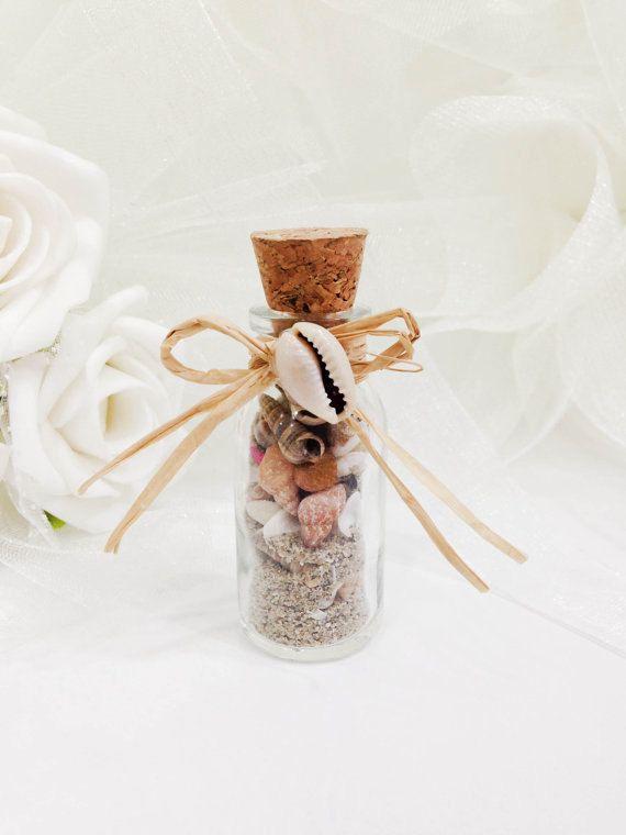 Plage dans un mariage de coquillage Bottle Beach Wedding favorise nautique Favours mariage favorise les idées de faveur bouteille favorise nautique Plage fête