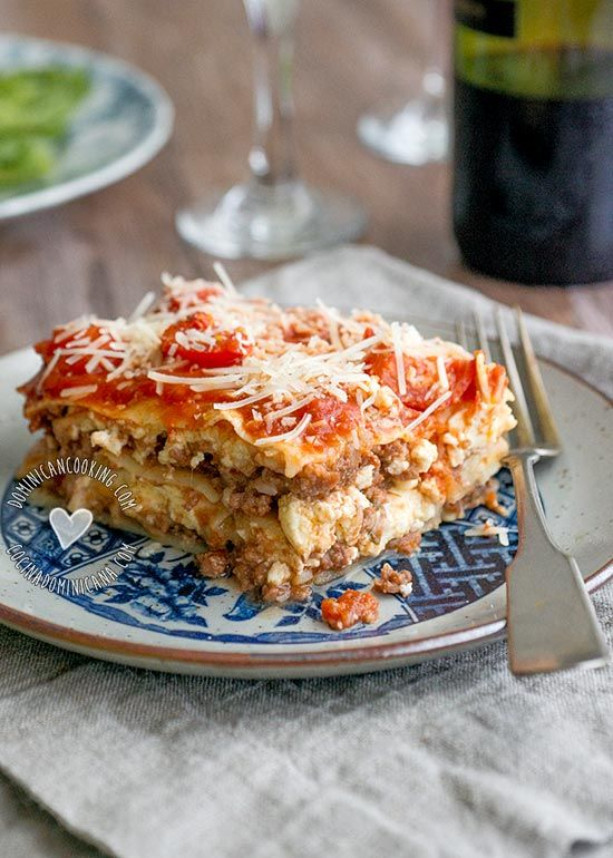 3 Cheeses and Beef Lasagna Recipe: absolutely brilliant, very juicy and flavorful and a favorite in my family.