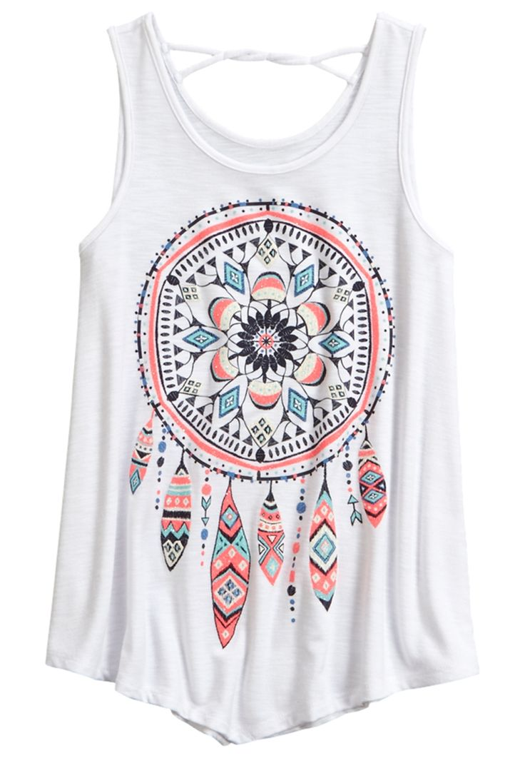Twist Back Tank (original price, $26.90) available at #Justice