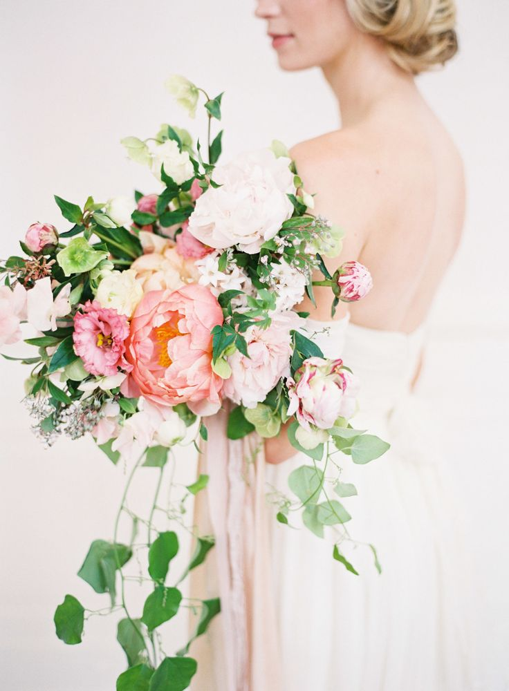 Peony, ranunculus, and rose wedding bouquet: Photography: Kayla Barker Fine Art Photography - kaylabarker.com   Read More on SMP: http://www.stylemepretty.com/2016/10/20/a-grace-kelly-inspired-wedding-inspiration/