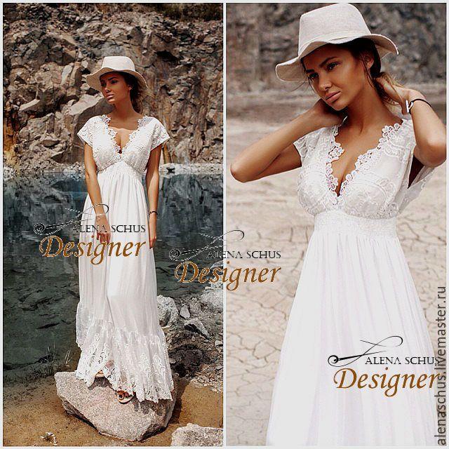 Купить Сарафан летний из батиста - белый, однотонный, платье летнее, Платье нарядное, сарафан летний