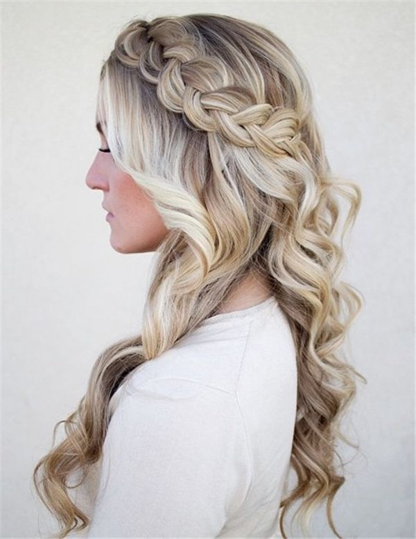 stylish side-ponytail braided half up do wedding hairstyles