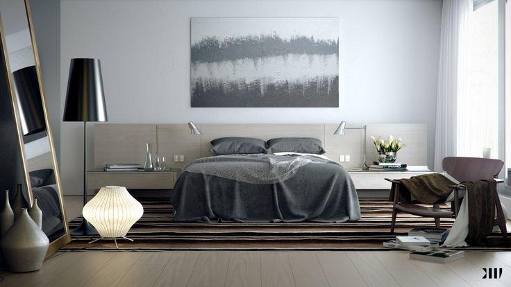 Grey Brown White Bedroom