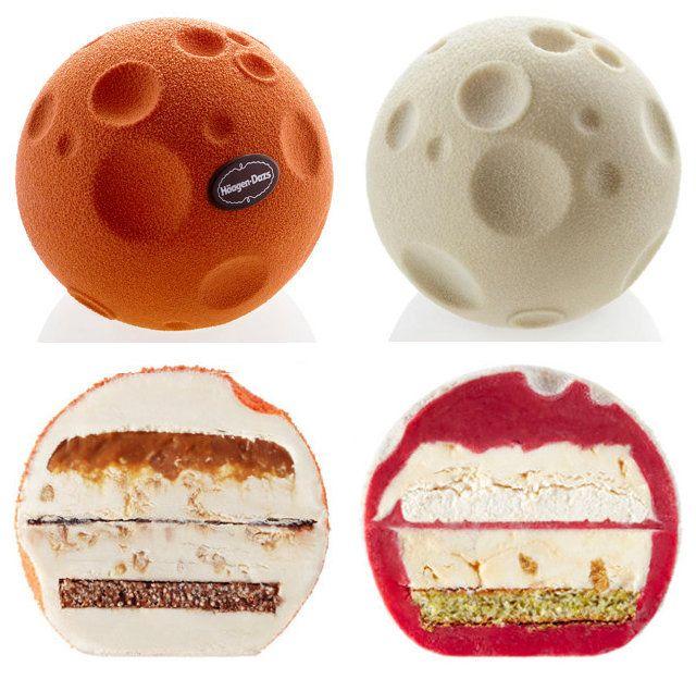Moon Shaped Hagen-Dazs Ice Cream Cakes... Yes Please