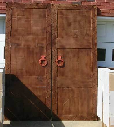 How to make dramatic double doors out of cardboard
