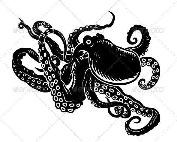 Ocean octopus graphicriver wild with long