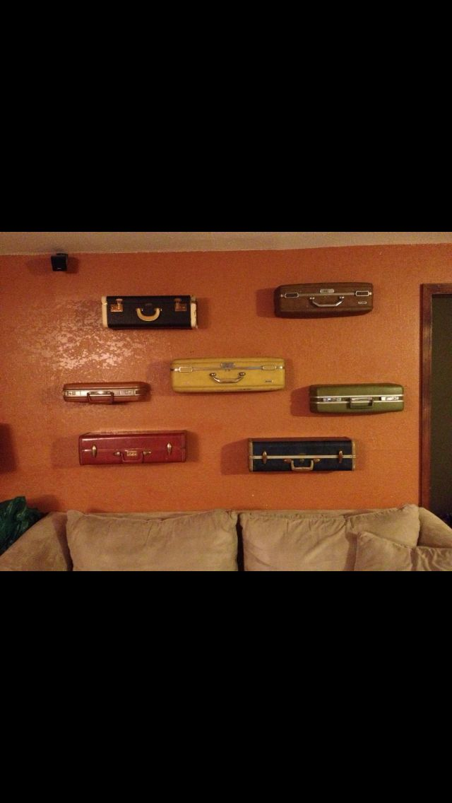 how to make a vintage suitcase shelf