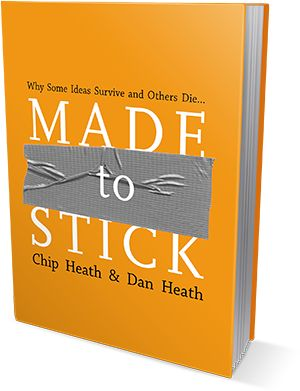 """Why do some ideas thrive while others die? And how do we improve the chances of worthy ideas? In Made to Stick, accomplished educators and idea collectors Chip and Dan Heath tackle head-on these vexing questions. Inside, the Heath brothers reveal the anatomy of ideas that """"stick"""" and explain sure-fire methods for making ideas stickier, such as violating schemas, using the Velcro Theory of Memory, and creating """"curiosity gaps."""" 151.66 HEA"""