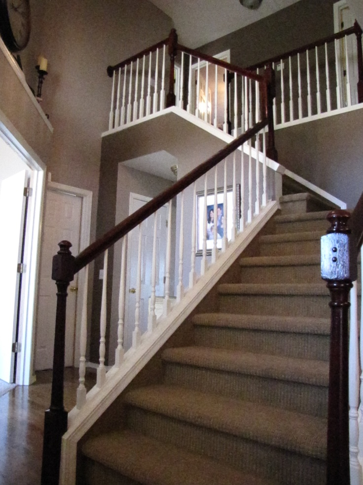 The Quot After Quot Picture Of The Foyer The Banister And End
