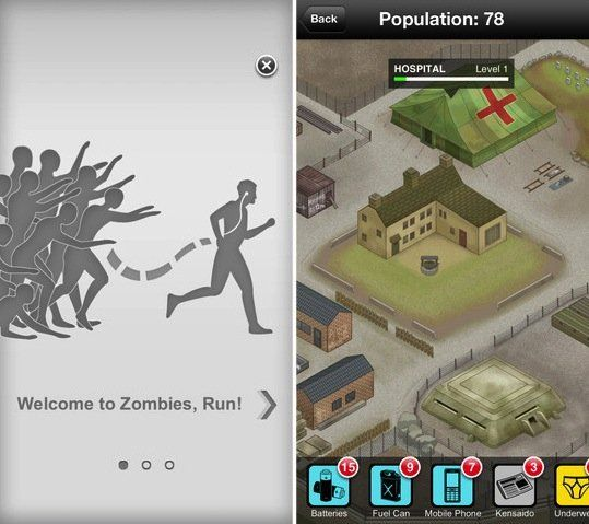 Zombies, Run! An immersive app for iOS, Android, and Windows that turns running workouts into a fun (and terrifying) game.