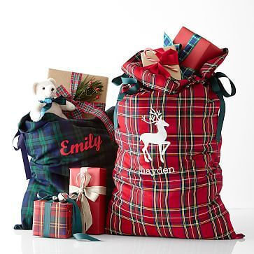 Plaid Santa Sack #makeyourmark