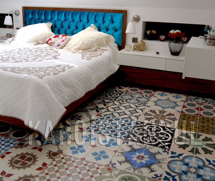 colored tiles handmade