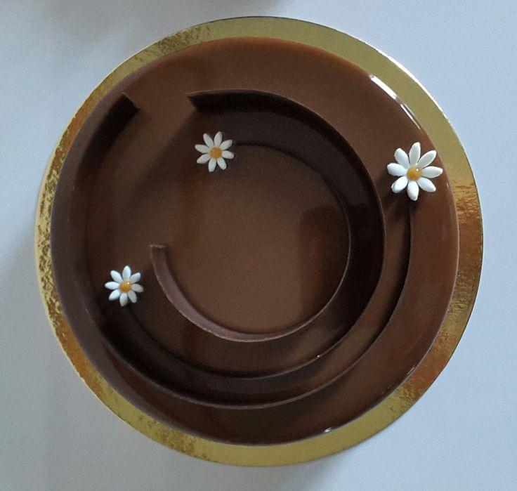 L'entremets Chocolat Caramel et Pommes