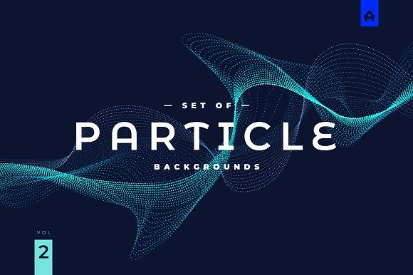 Particle Abstract Backgrounds Vol 2 By Blauananas On Creativemarket Sponsored Graphidesign Graphicassets Art Website Webdesign Webelemen Abstract Backgrounds Abstract Vector Shapes