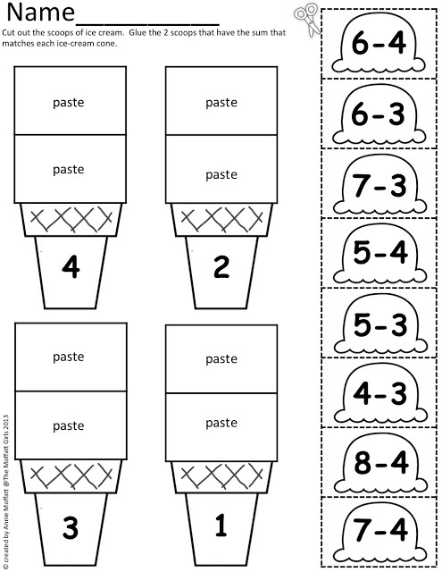 Ice Cream Math Scoops!  Perfect summer learning!