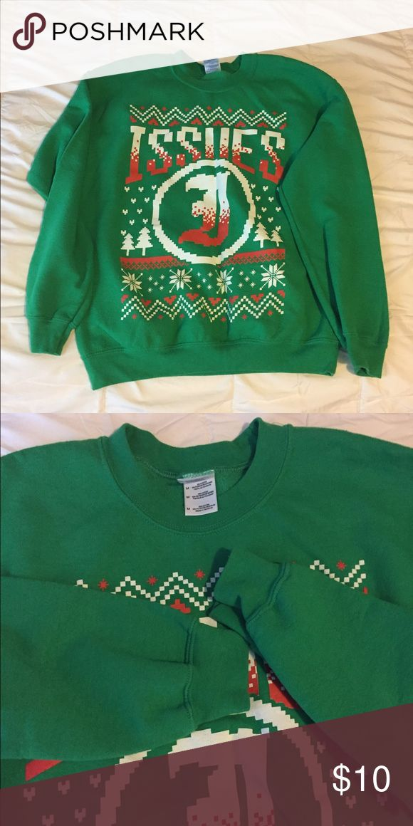Green brand sweater Issues band crew neck sweater Worn a few times  Good condition  Smoke free home but pet friendly home Feel free to ask any questions  No trades! Hot Topic Sweaters Crewneck